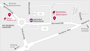 Lageplan der Apotheke Stahnsdorf